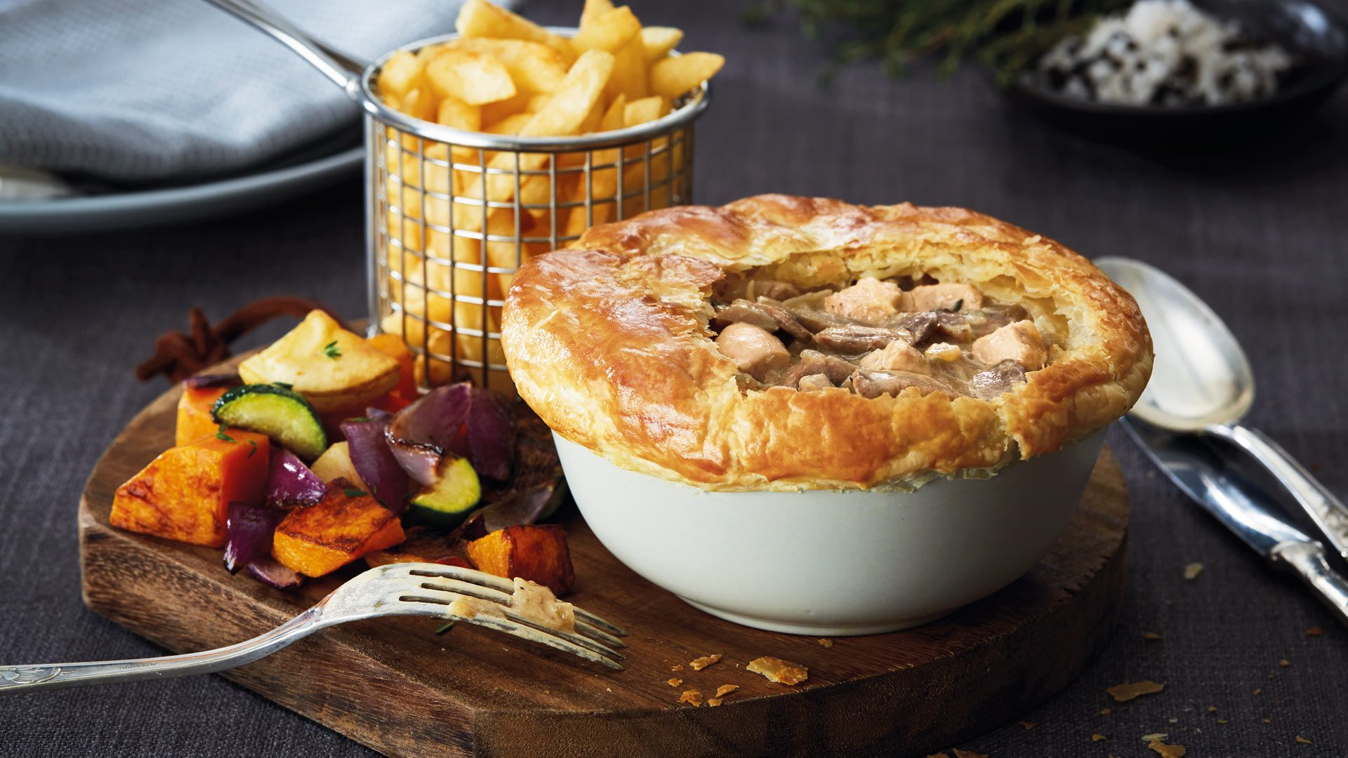 Keg Chicken and Mushroom Pies